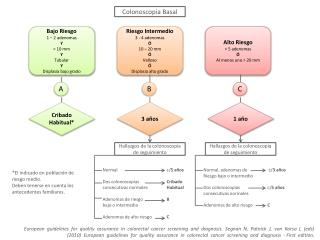 Bajo Riesgo 1 – 2 adenomas Y < 10 mm Y Tubular Y  Displasia bajo grado
