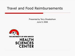 Travel and Food Reimbursements