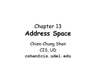 Chapter  13 Address Space