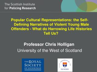 University of Dundee Cultural Representations of Crime April 2013