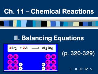 II. Balancing Equations (p. 320-329)