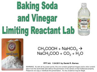 Baking Soda  and Vinegar  Limiting Reactant Lab