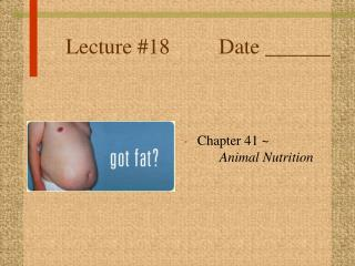 Lecture #18         Date ______