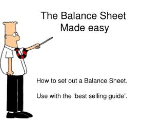 The Balance Sheet  Made easy