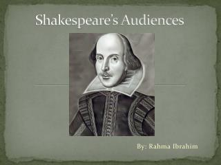 Shakespeare�s Audiences