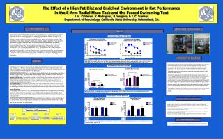 The Effect of a High Fat Diet and Enriched Environment in Rat Performance