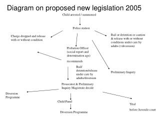 Diagram on proposed new legislation 2005 Child arrested / summoned