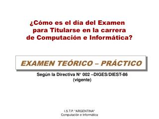EXAMEN TE RICO   PR CTICO