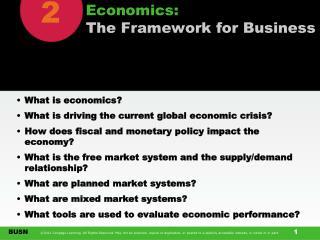 Economics: The Framework for Business