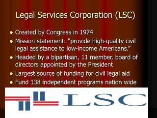 Legal Services Corporation LSC