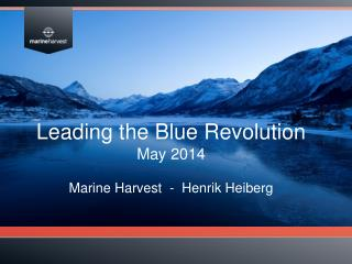 Leading the Blue  Revolution May 2014 Marine Harvest  -  Henrik Heiberg