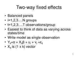 Two-way fixed effects