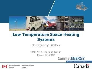 Low Temperature Space Heating Systems