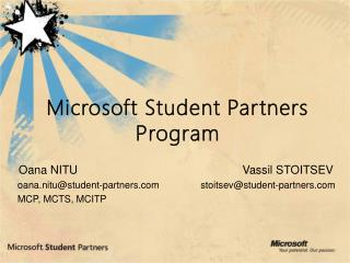 Microsoft Student Partners Program