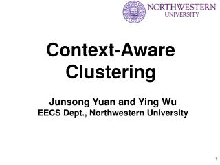 Context-Aware Clustering