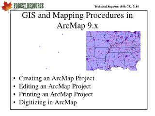 GIS and Mapping Procedures in ArcMap 9.x