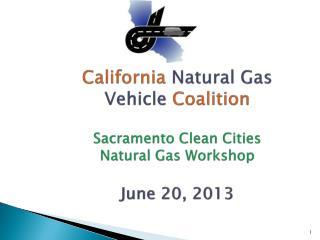 CA NGV Coalition 2013
