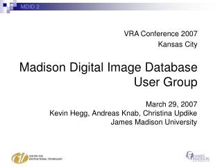 Madison Digital Image Database User Group