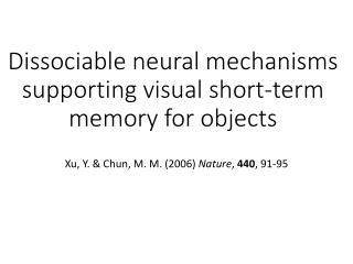 Dissociable neural mechanisms supporting visual short-term memory for objects