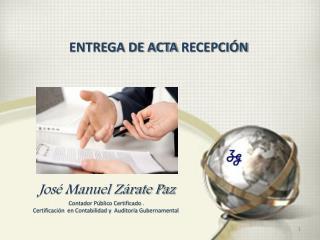 ENTREGA DE  ACTA  RECEPCIÓN