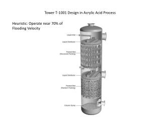 Tower T-1001 Design in Acrylic Acid Process