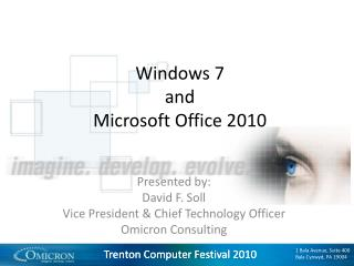 Windows 7 and Microsoft Office 2010