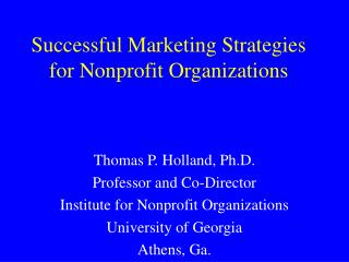 Successful Marketing Strategies