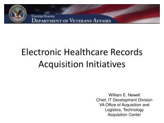 Electronic Healthcare Records Acquisition Initiatives