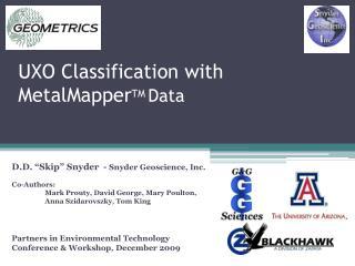 UXO Classification with MetalMapper TM Data