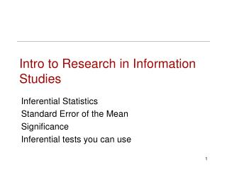 Intro to Research in Information Studies