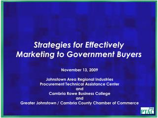 Strategies for Effectively Marketing to Government Buyers