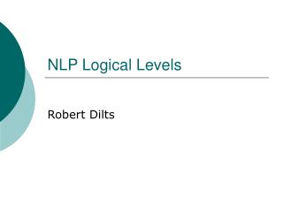 NLP Logical Levels
