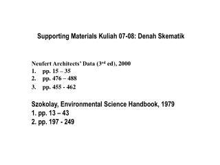 Supporting Materials Kuliah 07-08: Denah Skematik