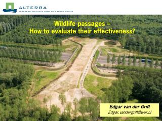 Wildlife passages –  How to evaluate their effectiveness?