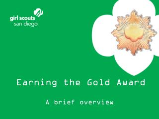 Earning the Gold Award