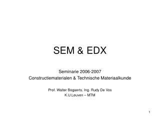 SEM & EDX