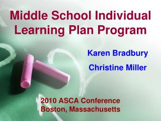 Middle School Individual Learning Plan Program