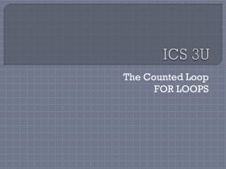 ICS 3U