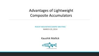 Advantages of Lightweight  Composite Accumulators