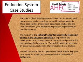 Endocrine System Case Studies