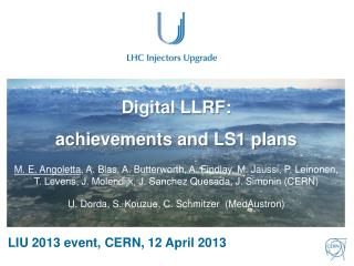 Digital LLRF:  achievements and LS1 plans