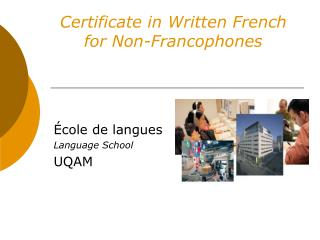 Certificate in Written French  for Non-Francophones