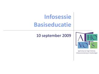 Infosessie Basiseducatie