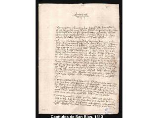 Capítulos de San Blas, 1513