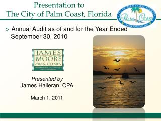 Presentation to The City of Palm Coast, Florida