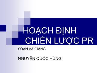 HOCH  NH  CHIN LUC PR