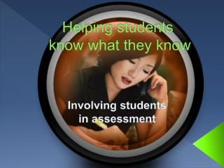 Helping  students know what they know