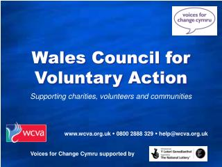 Supporting charities, volunteers and communities
