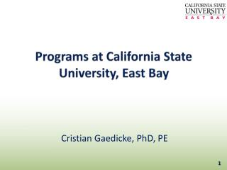 Programs at California State University, East Bay