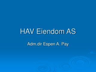 HAV Eiendom AS